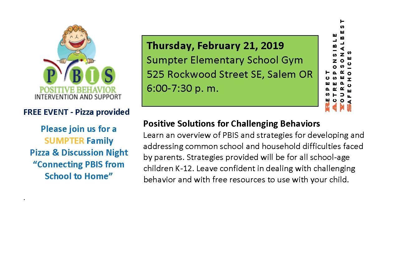 PBIS Family Night – February 21st