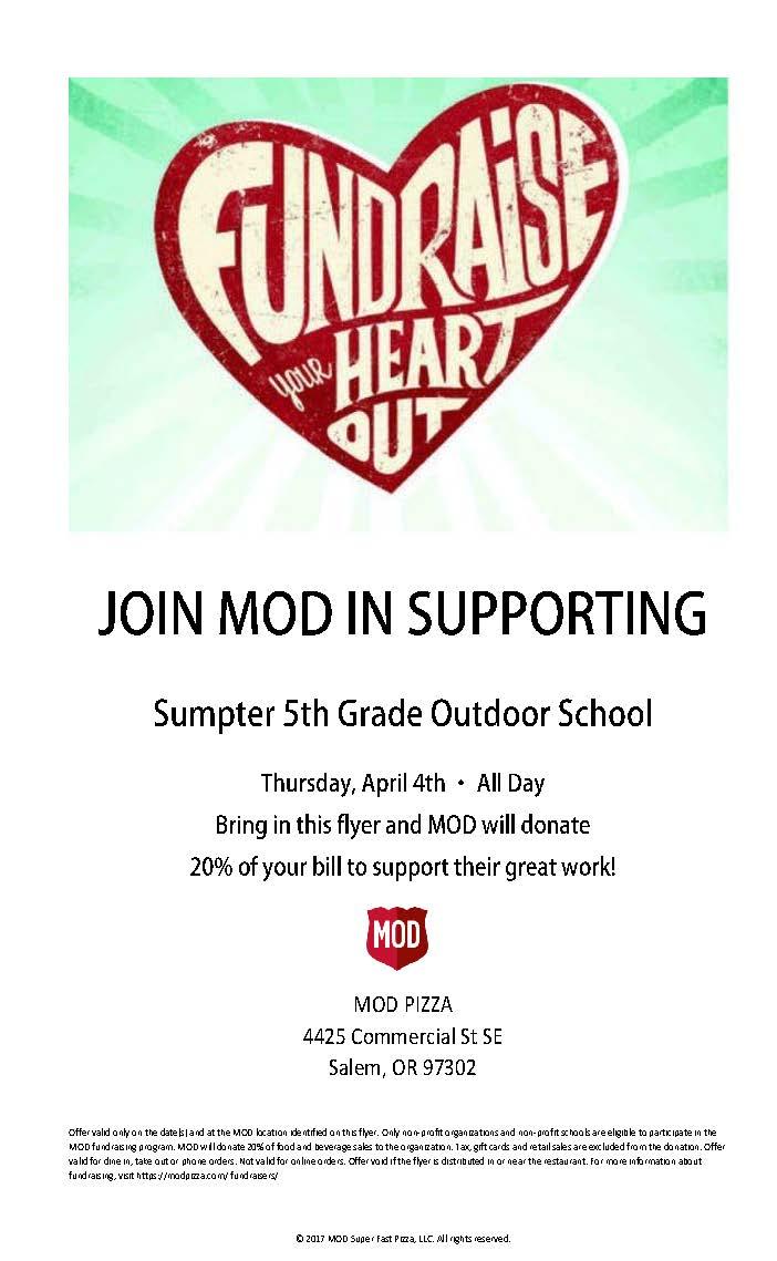 5th Grade Outdoor School Fundraiser