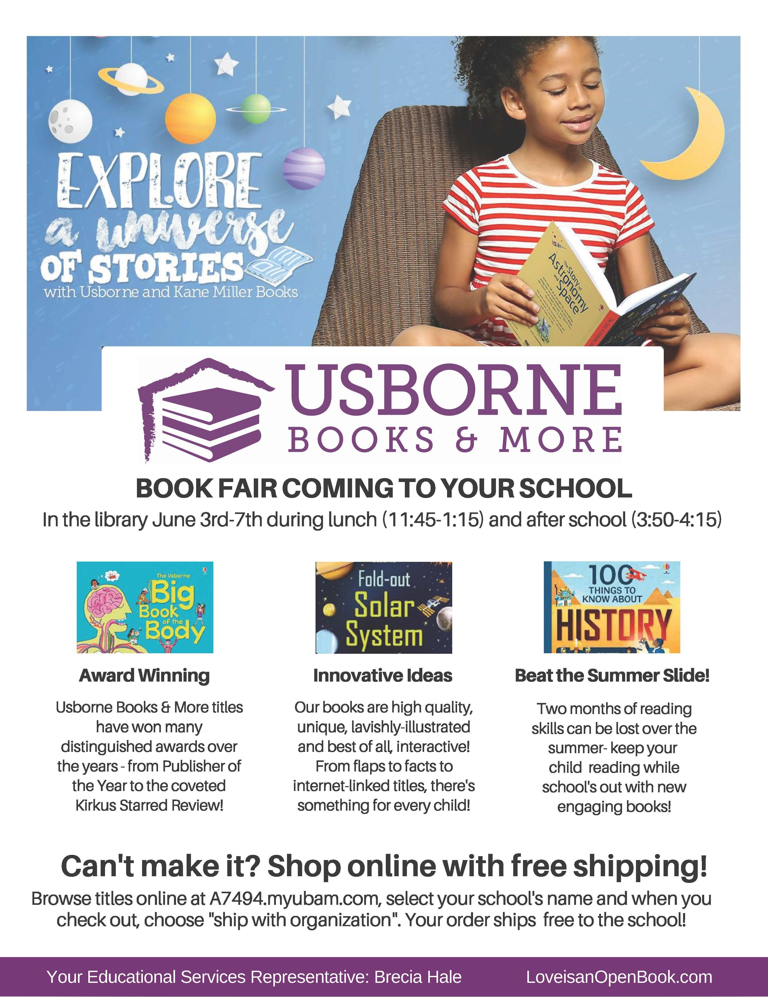 Usborne February 2020 Calendar Book Fair Online Order Information   Sumpter Elementary School