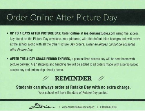 Missed Picture Day Packets